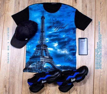 تیشرت مردانه مدل Eiffel