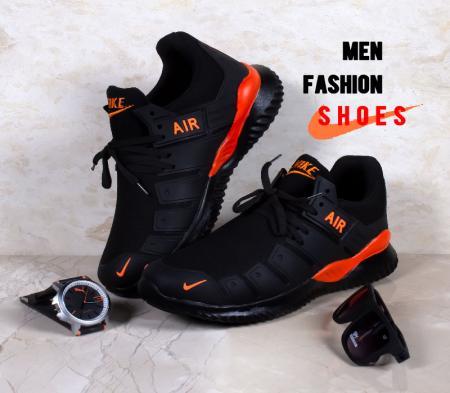 کفش مردانه Nike مدل Air 2021 (مشکی نارنجی)
