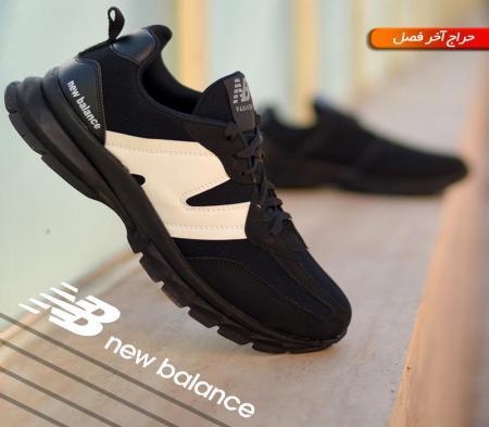 کفش مردانه New balance مدل Pert (مشکی سفید)